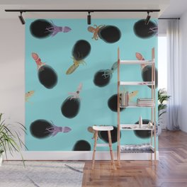 Squids Inking Wall Mural
