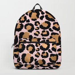Animal print - pink copper Backpack