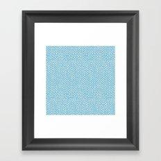 Hand Knit Sky Blue Framed Art Print