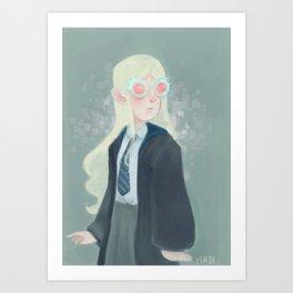 Luna Lovegood and her Spectrespecs Art Print