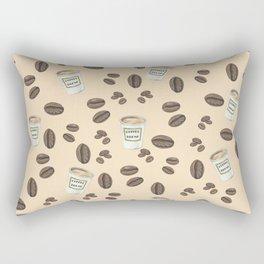 Coffee break Pattern Rectangular Pillow
