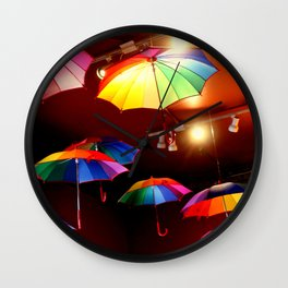 The Rainbow Party Lights Wall Clock