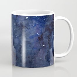 Galaxy Nebula Watercolor Night Sky Stars Outer Space Blue Texture Coffee Mug