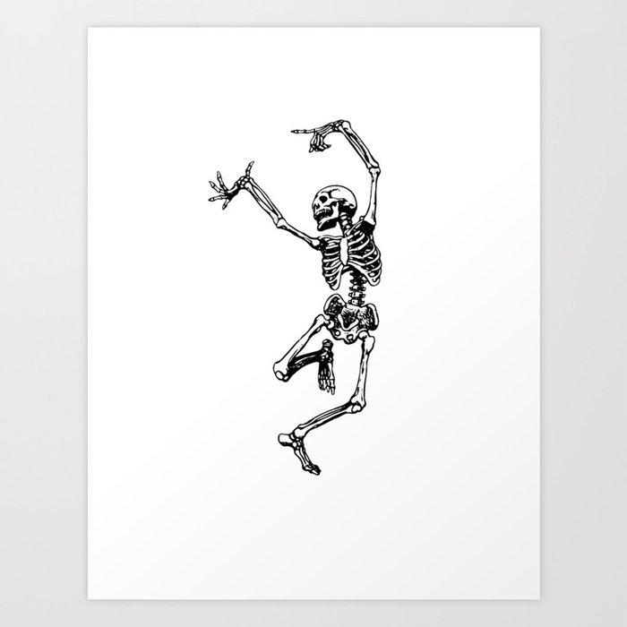 DANCING SKULL Kunstdrucke