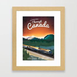 Vintage Steam Locomotive in Canada Poster Framed Art Print
