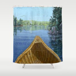 canoe bow Shower Curtain
