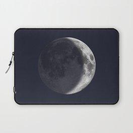 Waxing Crescent Moon on Navy Laptop Sleeve