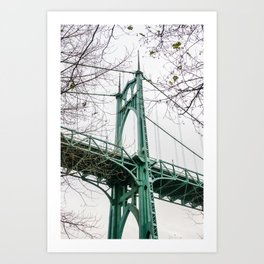 St. Johns Bridge at Cathedral Park Portland Art Print