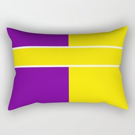 Team Colors 6....Yellow,purple Rectangular Pillow