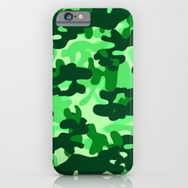 Camouflage (Green) iPhone Case