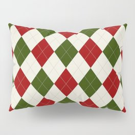 Christmas Argyle Pattern Pillow Sham