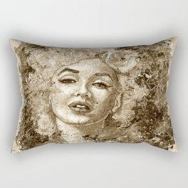 blonde bombshell - sepia version Rectangular Pillow