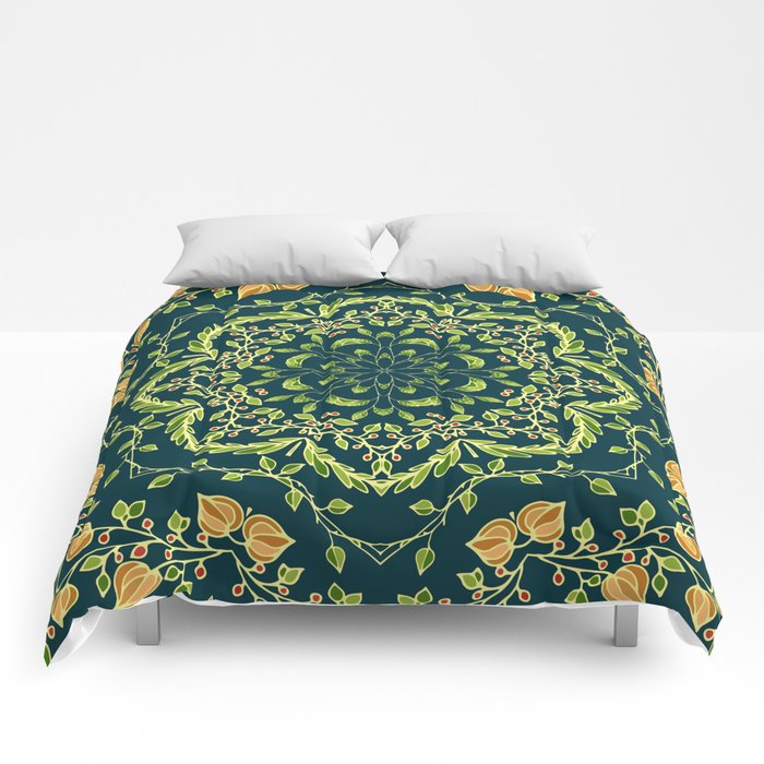 Floral ornament Comforters