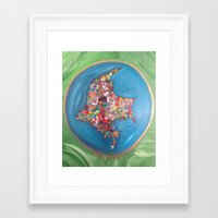 colombia Framed Art Prints featuring Colombia Verde by MikAnsart