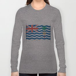 Flag of British Indian Ocean Territory. The slit in the paper with shadows. Long Sleeve T-shirt