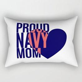 Proud Navy Mom Rectangular Pillow