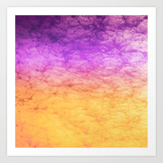 Orange and Purple Art Print