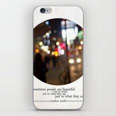 people are beautiful iPhone & iPod Skin