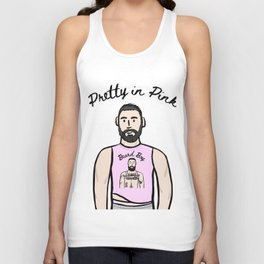Beard Boy: Pretty In Pink Unisex Tank Top
