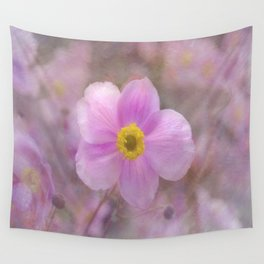 Pink Anemone Wall Tapestry
