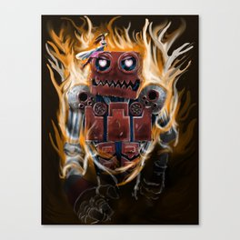The Lady and The Robot Canvas Print
