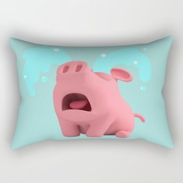 Rosa the Pig is Crying Rectangular Pillow