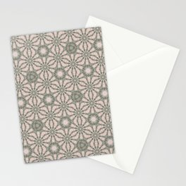 Mandalic Storm Mirror Pattern 4 Stationery Cards