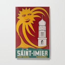 Saint Imier Vintage Travel Poster Metal Print