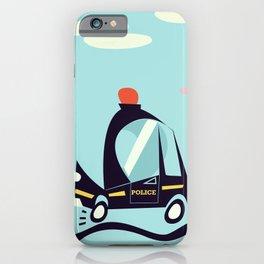 Cartoon Police Car iPhone Case