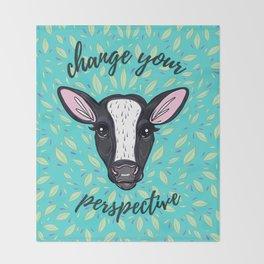 Change Your Perspective White Blaze Throw Blanket
