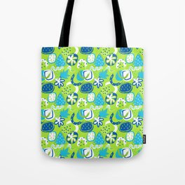 Brushstroke Abstracts - blue and green Tote Bag