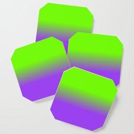 Neon Purple and Neon Green Ombré  Shade Color Fade Coaster