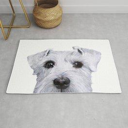 Schnauzer original Dog original painting print Rug