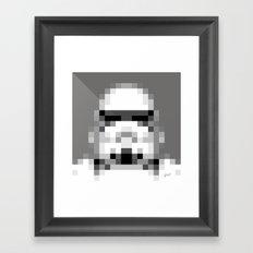 Stormtrooper 8-Bit Framed Art Print
