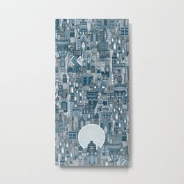space city mono blue Metal Print