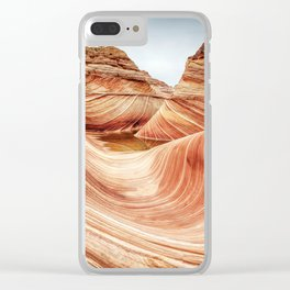 Take a Ride on The Wave Clear iPhone Case