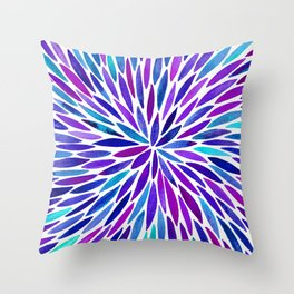 Lavender Burst Throw Pillow