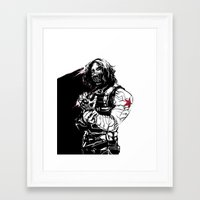 the winter soldier Framed Art Prints featuring Winter Soldier by Irene Flores