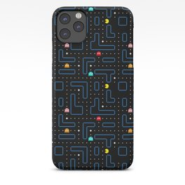 Pac-Man Retro Arcade Video Game Pattern Design iPhone Case