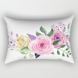 Posy YELLOW AND RED Painted - bouquet, nosegay, flower Rectangular Pillow