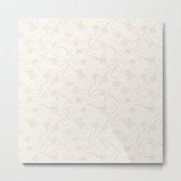 Beautiful Pearl Design Pattern Metal Print