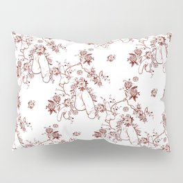 Penis Pattern RED Pillow Sham