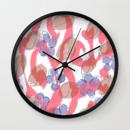 Ikat Fleur Wall Clock