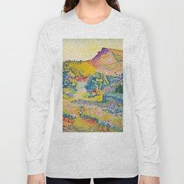 Henri-Edmond Cross Neo-Impressionism Landschaft mit Le Cap Nègre Paysage avec le cap Nègre Long Sleeve T-shirt