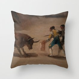Bullfight in a Divided Ring Throw Pillow