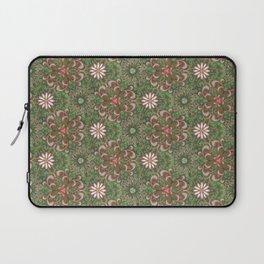 Pink Garden Swirl Pattern Laptop Sleeve