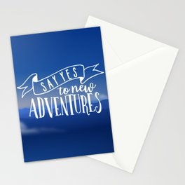 Say Yes To New Adventures Stationery Cards