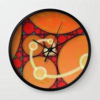 fibonacci Wall Clocks featuring Fibonacci Spiral Fractal by Conceptualized