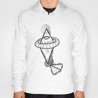 spaceship Hoodies featuring Diamond Spaceship by Guice Mann