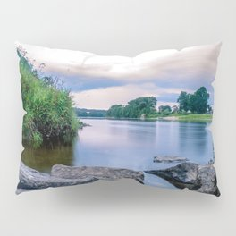 Long Exposure Photo of The River Tay in Perth Scotland Pillow Sham